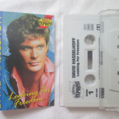 David Hasselhoff ‎– Looking For Freedom _ caseta audio originala, Germania - Muzica Pop ariola, Casete audio
