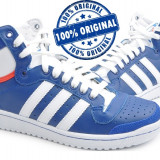 Adidasi barbat Adidas Originals Top Ten Hi - adidasi originali - ghete piele - Adidasi barbati, Marime: 40, Culoare: Albastru, Piele naturala
