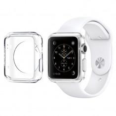 Husa carcasa slim din plastic pentru Apple Watch 42mm, gri