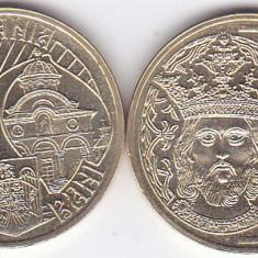 Moneda Romania 50 Bani 2011 - KM#260 UNC ( comemorativa - Mircea cel Batran )