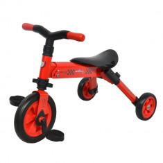 Tricicleta pliabila DhsBaby B-Trike rosu - Tricicleta copii DHS Baby, 2-4 ani, Unisex