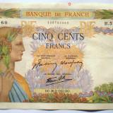 83. FRANTA 500 FRANCS FRANCI 26.03.1942 SR. 960, Europa