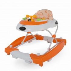 Premergator cu balansoar DhsBaby Swing portocaliu, 6-12 luni