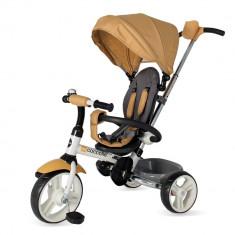 Tricicleta pliabila Coccolle Urbio bej - Tricicleta copii Coccolle, Unisex, Crem