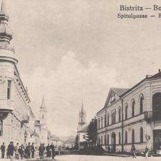 BISTRITA, STRADA SPITAULUI - Carte Postala Transilvania 1904-1918, Necirculata, Printata