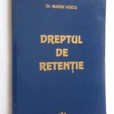 DREPTUL DE RETENTIE -MARIN VOICU - Carte Dreptul familiei