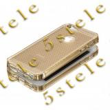 Husa Ultra Slim NANCY Apple iPhone 5/5S Gold - Husa Telefon, iPhone 5/5S/SE, Auriu