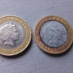 Moneda Anglia 2 pounds 2011 fals de epoca foarte bine realizat monede, Europa