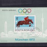 ROMANIA 1972, LP 789, PREOLIMPIADA MUNCHEN COLITA NEDANTELATA STAMPILATA - Timbre Romania