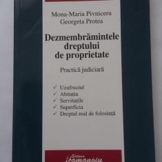DEZMEMBRAMINTELE DREPTULUI DE PROPRIETATE -PRACTICA JUDICIARA . - Carte Jurisprudenta