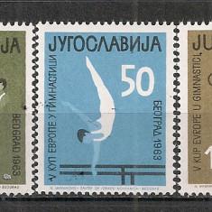 Iugoslavia.1963 C.E. de gimnastica CI.593 - Timbre straine, Nestampilat