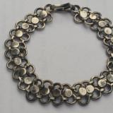 Bratara argint MASIVA executata manual VECHE model superb de Efect Vintage RARA