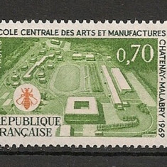 Franta 1969 - SCOALA CENTRALA DE ARTA SI MESERII, timbru nestampilat AD145 - Timbre straine
