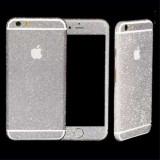 Sticker iPhone 6 Stralucitor Acoperire Completa Argintiu