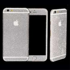 Sticker iPhone 6 Stralucitor Acoperire Completa Argintiu - Sticker Telefon
