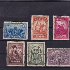 ROMANIA 1929, LP 82, 10 ANI UNIREA TRANSILVANIEI SERIE STAMPILATA - Timbre Romania