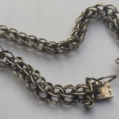 Bratara argint Veche Impletitura zale ovale executata manual Superba de Efect