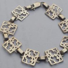 Bratara argint art deco Franta aprox 1930 Vintage Finuta de Efect Impecabila