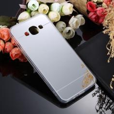 Husa Samsung Galaxy S3 i9300 TPU Mirror Silver - Husa Telefon Samsung, Gri, Gel TPU, Fara snur, Carcasa
