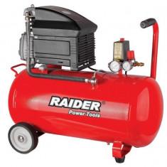 120105-Compresor de aer 50 L x 1500 W cu piston Raider Power Tools RD-AC02 - Compresor electric Raider Power Tools, Compresoare cu piston