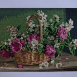Cos cu iasomie si trandafiri - Tapiterie Goblen