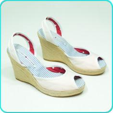 DE FIRMA → Sandale dama, aerisite, fiabile, denim TOMMY HILFIGER → femei | nr 41, Textil, Tommy Hilfiger