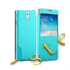 Husa Rock Flip Magic S-view Samsung Galaxy Note 3 bleu Blister - Husa Telefon, Turquoise