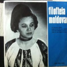 Filofteia moldovan disc single vinyl Muzica Populara electrecord folclor romanesc banat, VINIL
