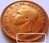 Moneda Half Penny - ANGLIA/ Mare Britanie, anul 1945 *cod 3205 eroare (muchie), Europa