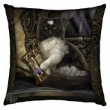 Pernă decorativă pisică Timpul s-a sfârșit