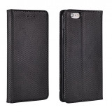 Husa iPhone 6 6S Flip Case Inchidere Magnetica Black - Husa Telefon Apple, Negru, Piele Ecologica, Cu clapeta, Toc