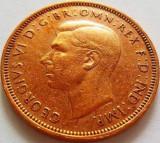 Moneda Half Penny - ANGLIA/ Marea Britanie, anul 1945 *cod 3201, Europa