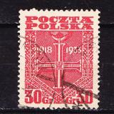 Timbre POLONIA 1933 = A 15-a ANIV. A REPUBLICII POLONE, Stampilat