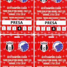 Acreditare meci fotbal ASTRA GIURGIU-FC COPENHAGA 27.07.2016 - Bilet meci