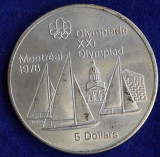 M. 5 dollars 1973 Canada, argint, Europa