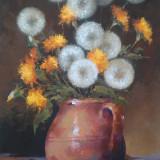 Tablou picturå - påpådie - Pictor roman, Flori, Ulei, Miniatural