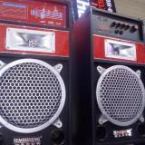 Boxe mari 100 wati active cu bluetooth statie incorporata, intrare microfoane