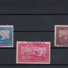 ROMANIA 1928, LP 80, C. RAIU, FILIGRAN VERTICAL, SERIE CU STAMPILA SPECIALA - Timbre Romania, Stampilat