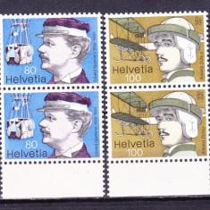 Timbre ELVETIA 1977 = PIONIERII AVIATIEI, MNH - Timbre straine, Nestampilat