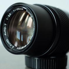 Obiectiv foto tele 135mm/3.5 Olympus Zuiko OM pt Olympus 4/3 Fuji mirrorless - Obiectiv mirrorless
