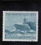 ROMANIA 1957  LP 435  ZIUA MARINEI   MNH, Nestampilat