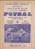 Program meci fotbal OTELUL GALATI - JIUL PETROSANI 10.05.1987