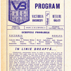 Program meci fotbal VICTORIA BUCURESTI - OTELUL GALATI 14.05.1988