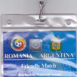 Acreditare meci fotbal ROMANIA - ARGENTINA 05.03.2014