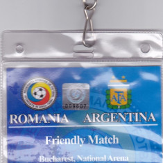 Acreditare meci fotbal ROMANIA - ARGENTINA 05.03.2014 - Bilet meci