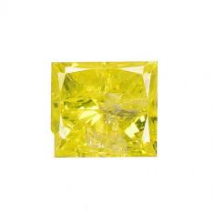 Diamant natural galben taiat princess 0.29 ct