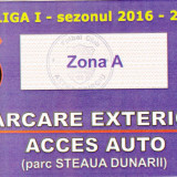 Ticket parking meci fotbal ASTRA GIURGIU-DINAMO BUCURESTI 23.07.2016
