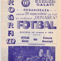Program meci fotbal OTELUL GALATI - VICTORIA BUCURESTI 28.09.1988