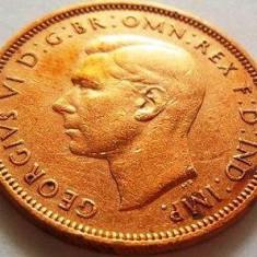 Moneda Half Penny - ANGLIA/ Mare Britanie, anul 1945 *cod 3204, Europa