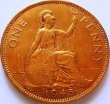 1 (One) Penny - Marea Britanie/ Anglia, anul 1945 *cod 3219 xF, Europa
